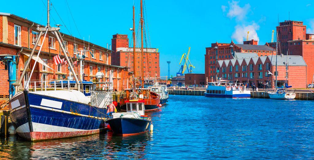 Wismar, situada a orillas del Mar Báltico y patrimonio de la UNESCO