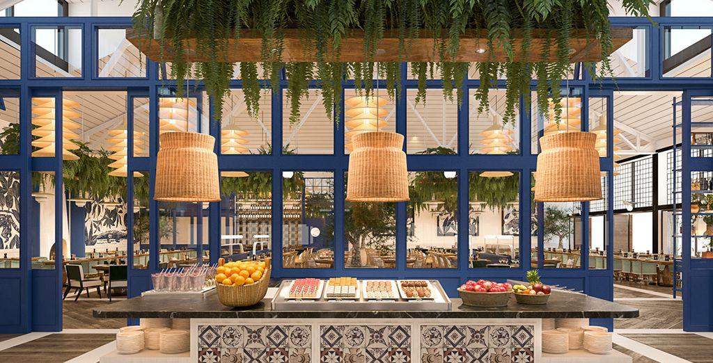 Profitez de votre formule tout-inclus pour tester les nombreux restaurants de l'hôtel