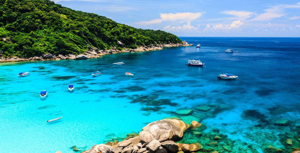 D'où vous pourrez aller explorer les îles Similan