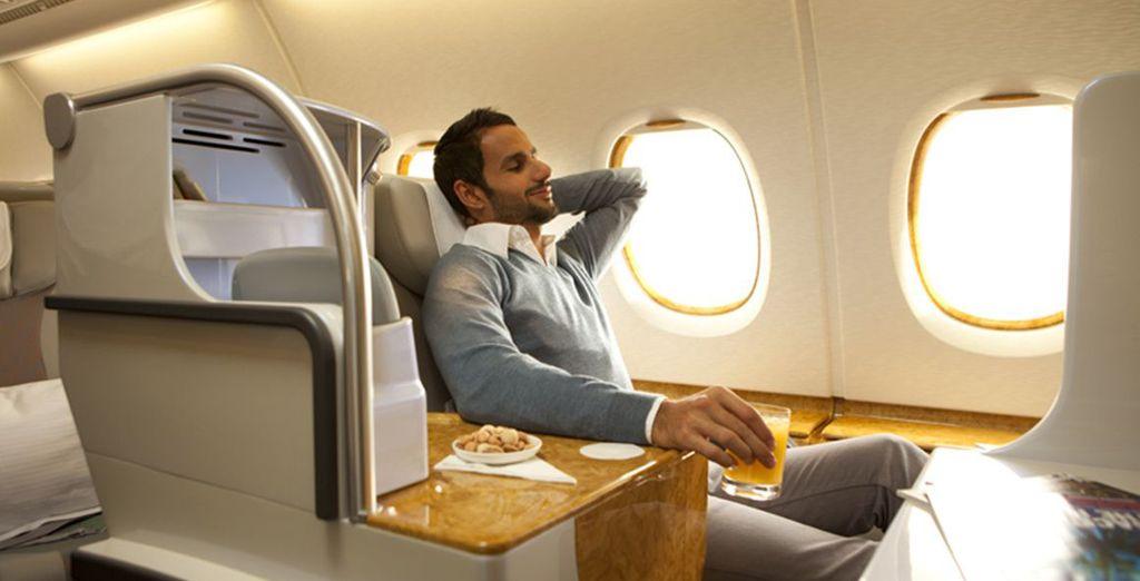 Pour un vol en classe Affaires