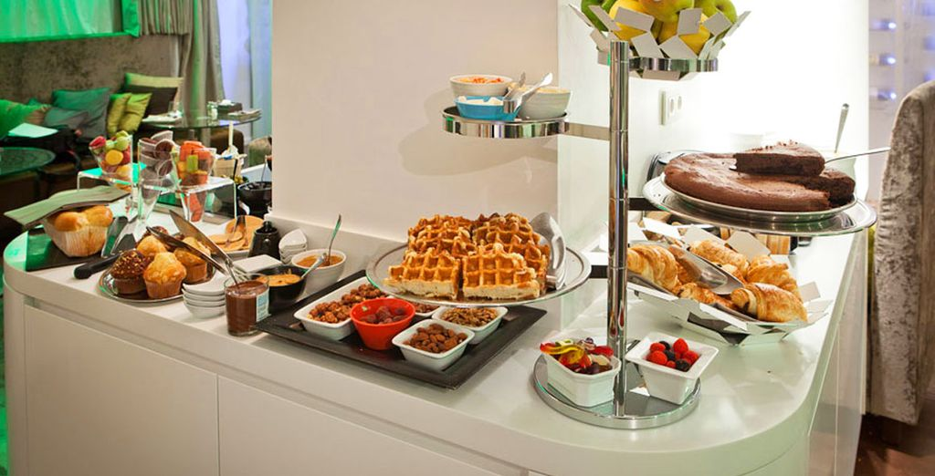 Fuel up on the delicious buffet breakfast...