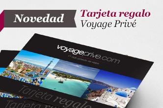Tarjeta Promo regalo Voyage Privé