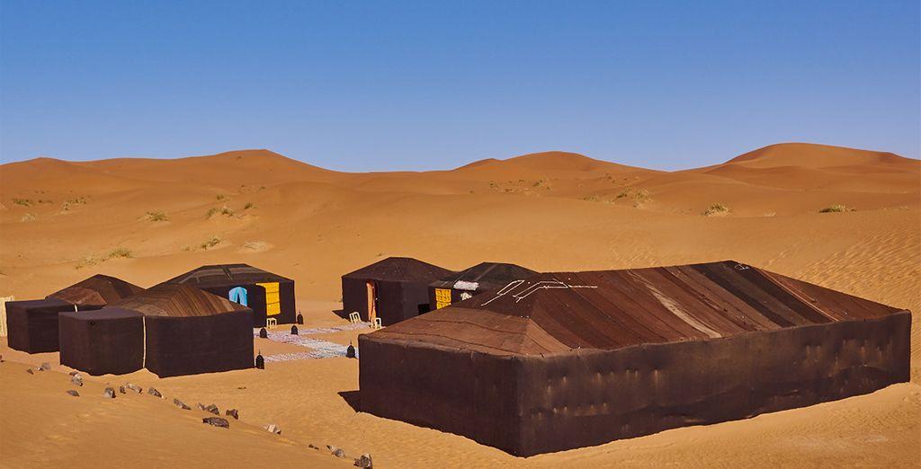 Verbringen Sie eine unvergessliche Nacht in der Sahara-Wüste.