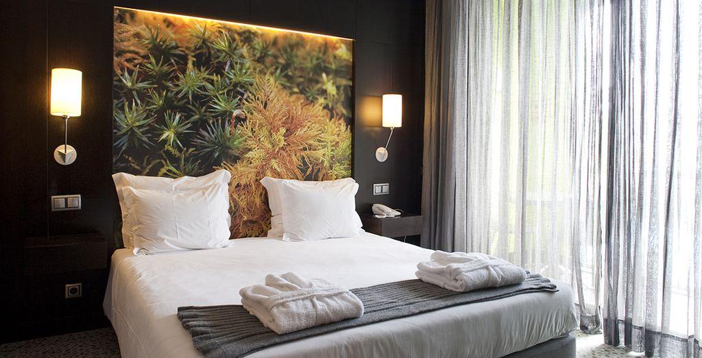 Oder Entspannen Sie im Superior Zimmer mit Blick auf die Bucht