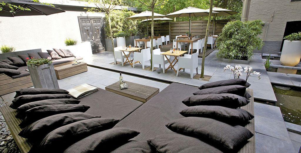 Und einer entspannenden Terrasse