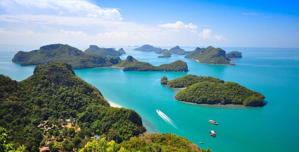 Entdecken Sie den Nationalpark Mu Koh Ang Ang Thong.