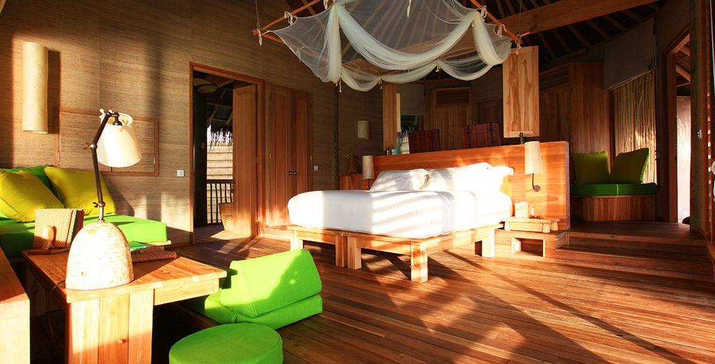Das Interieur ist mit traditionellem Geschmack und modern zugleich eingerichtet