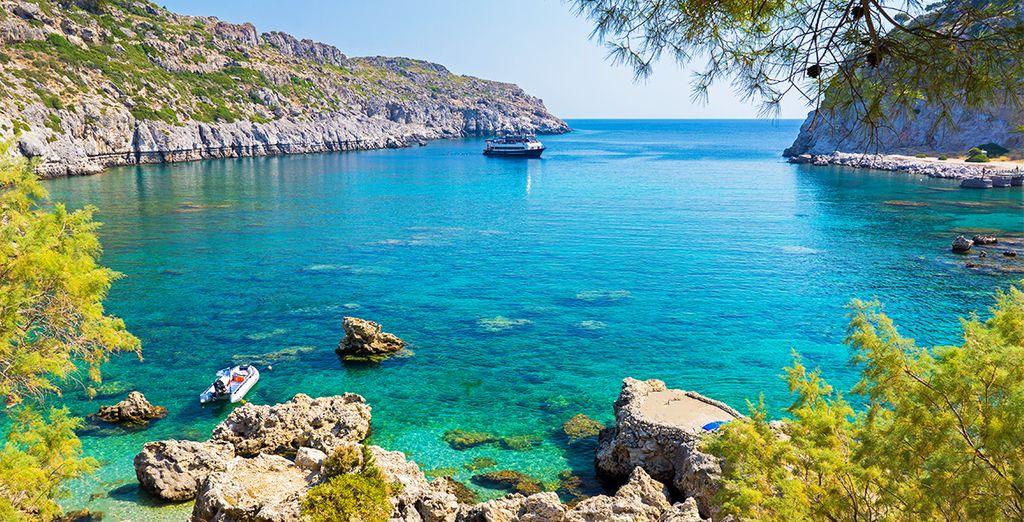 Die paradiesischen Landschaften von Rhodos