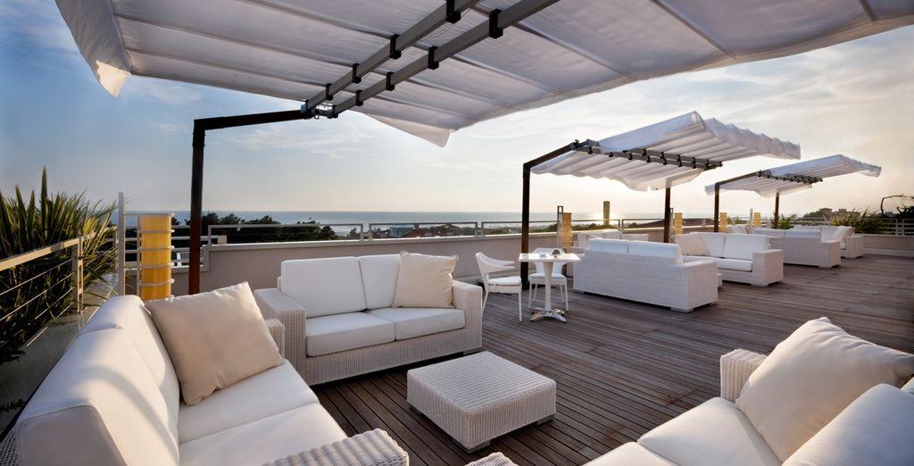 Der Meerblick von der Dachterrasse wird Ihnen eine bleibende Erinnerung hinterlassen!