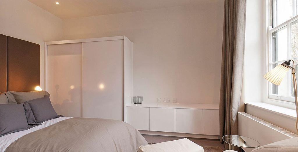 Alle Räume sind geschmackvoll eingerichtet: Stilvolle Möbel, modern und leicht...