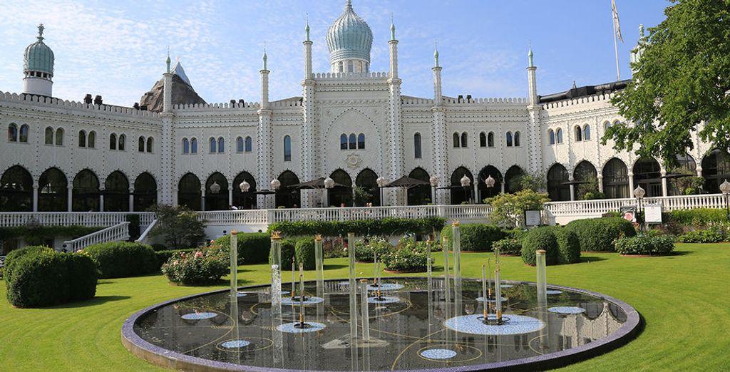 ... wo Sie den schönen Tivoli Park sehen werden