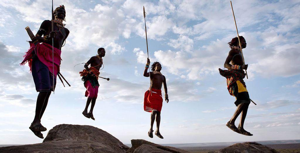 La tribu de los Masai Mara te dará la bienvenida