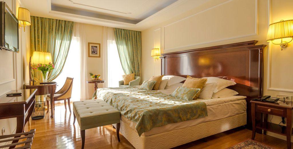 Entspannen Sie in Ihrem luxuriösen und eleganten Zimmer