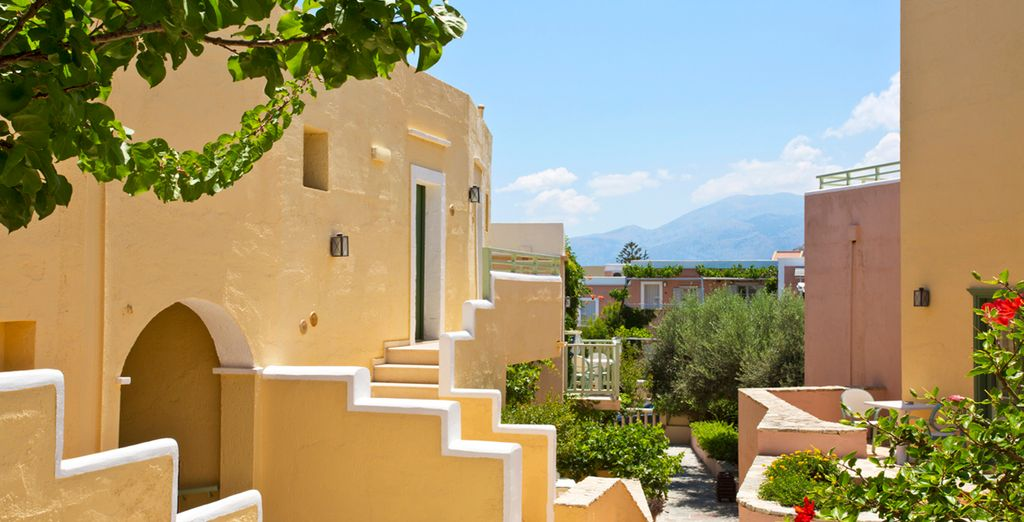 In einem wahren kleinen kretischen Dorf