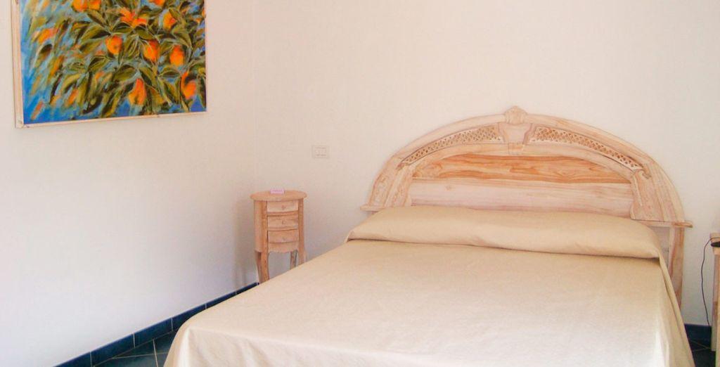 Ein komfortables Doppelzimmer mit Balkon...