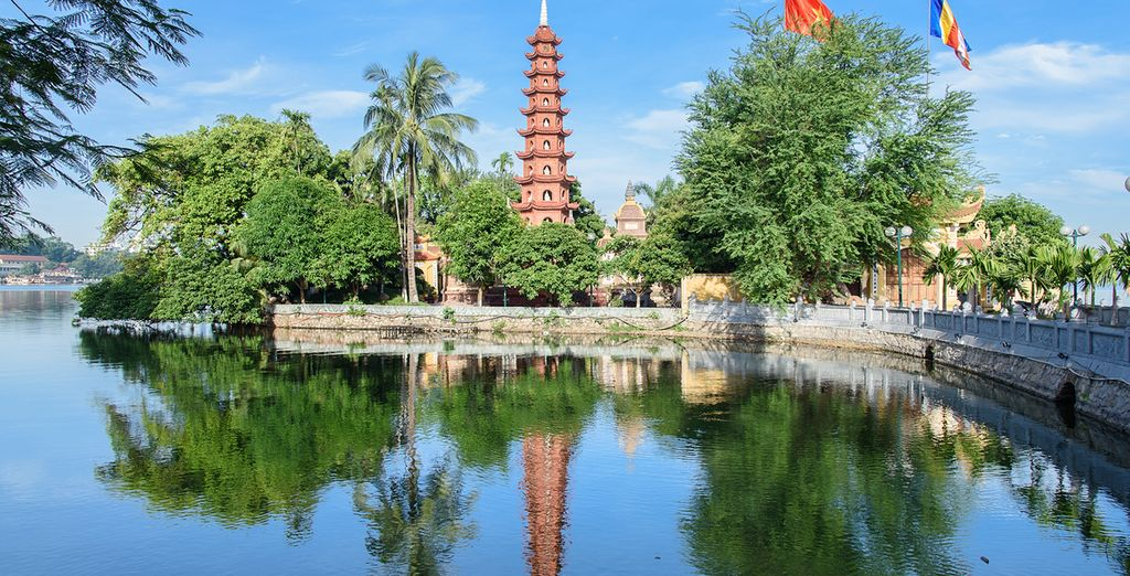 Die See Tran Quoc Pagode ist Hanois älteste Pagode