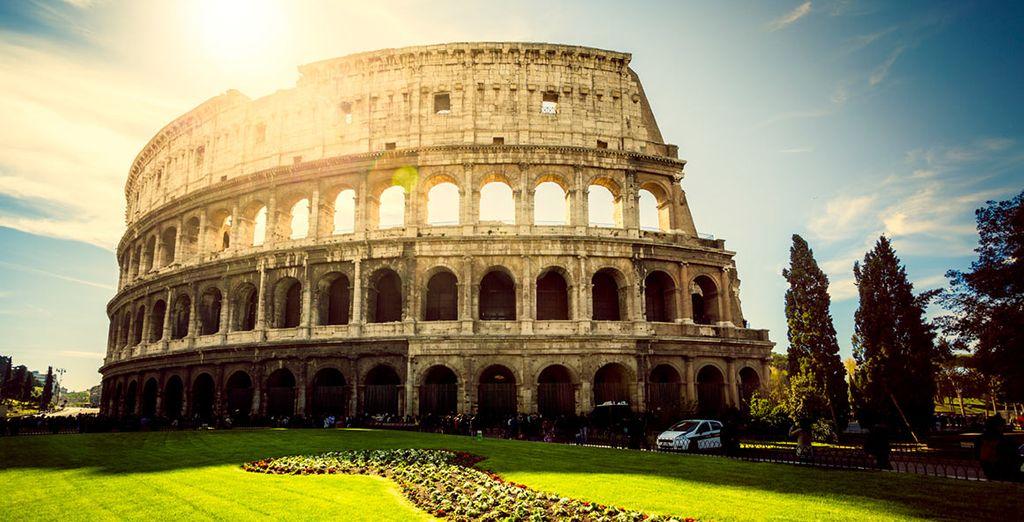 Bewundern Sie das Kolosseum ...