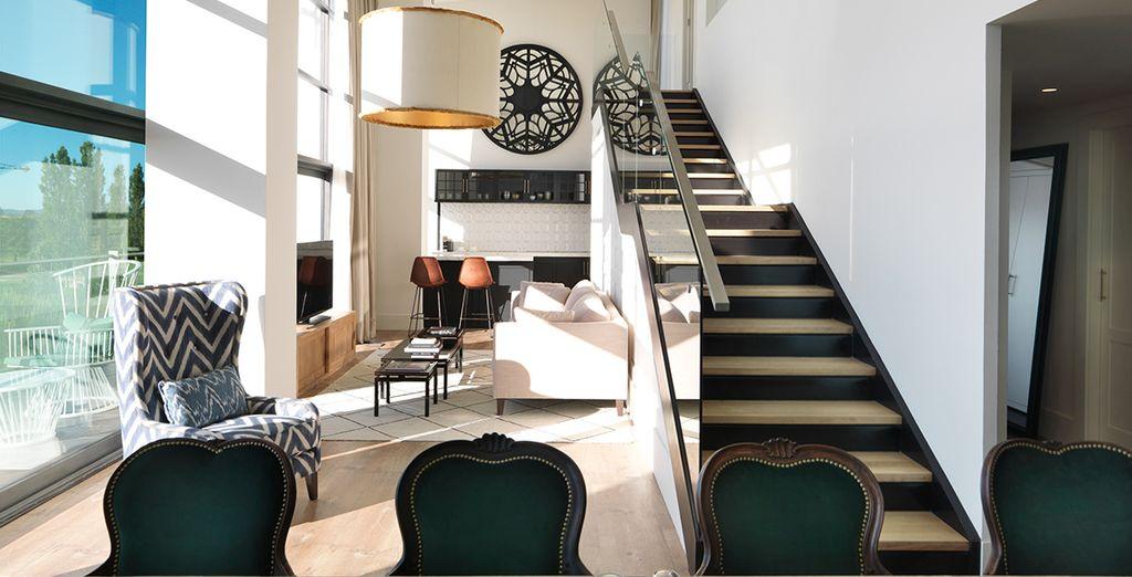 Das Art Deco Design hebt sich von anderen Hotels ab