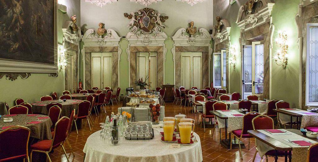 Palazzo Gaddi Restaurant bietet Ihnen lokale und internationale Gerichte