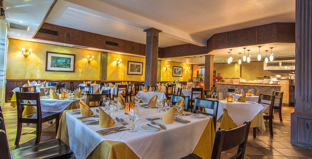 Im Platinum Restaurant können Sie besonder elegant speisen