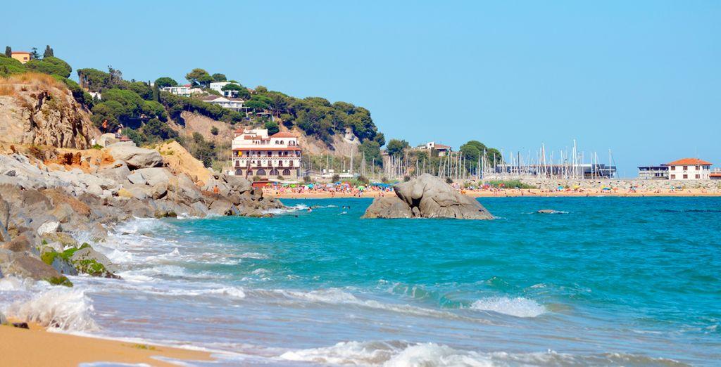 Die Küste von Arenys de Mar ist ganz in der Nähe