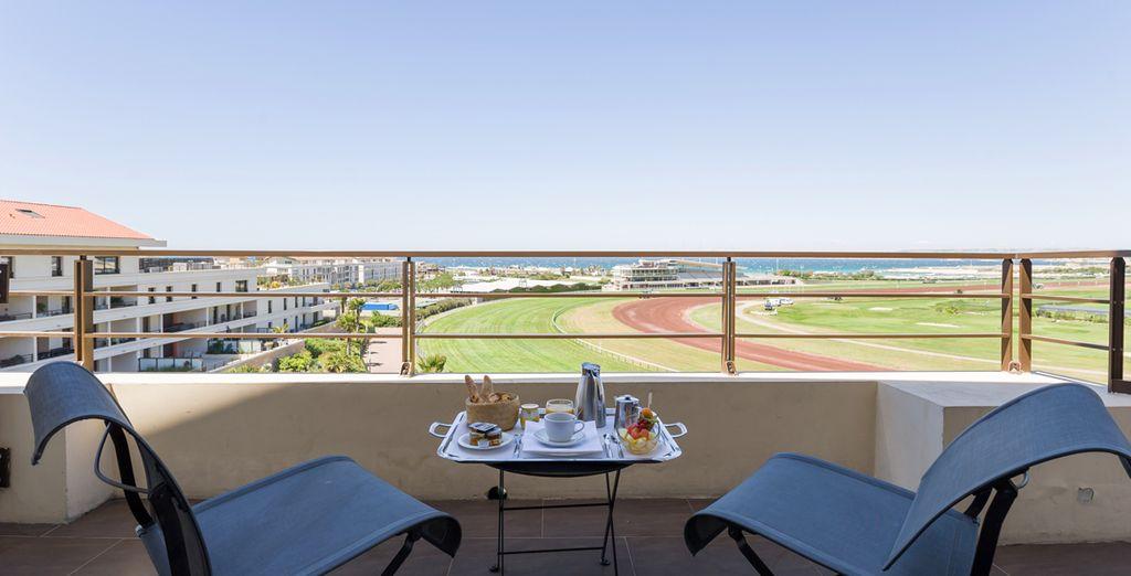 Genießen Sie Ihr Frühstück bei einem fabelhaften Panorama