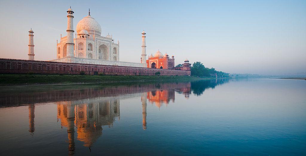 Und natürlich das Weltwunder Taj Mahal