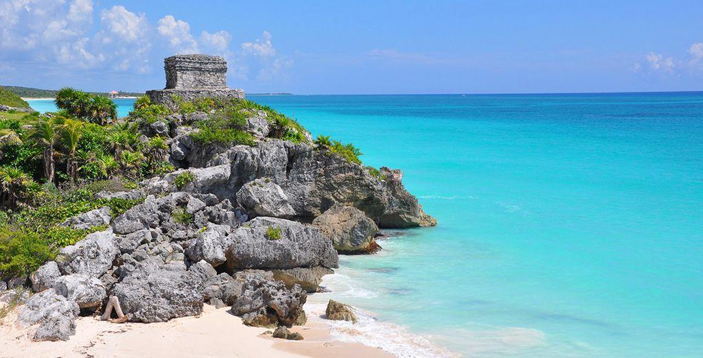Besichtigen Sie die fantastischen Ruinen Tulums
