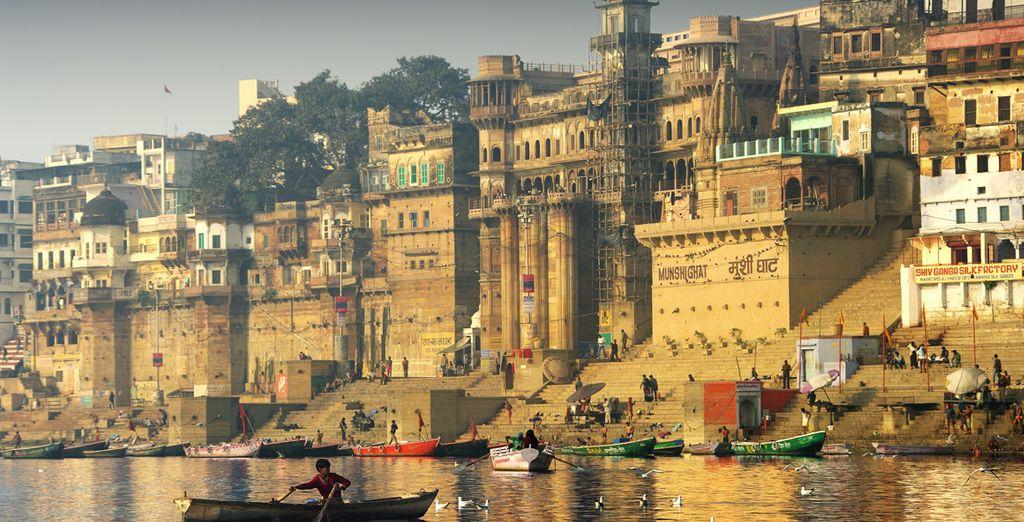 Auf dem Plan steht unter auch Varanasi
