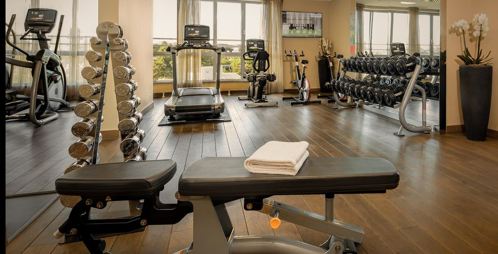 Oder betätigen Sie sich sportlich im Fitnessraum
