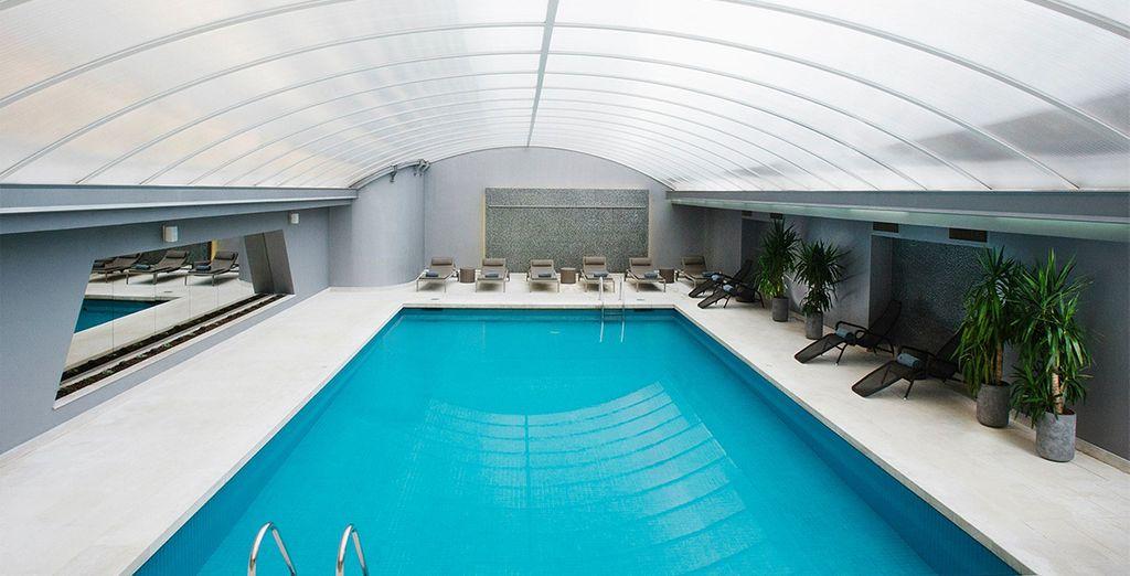 Werden Sie sich freuen ein erfrischendes Bad im Pool des Hotels nehmen zu können