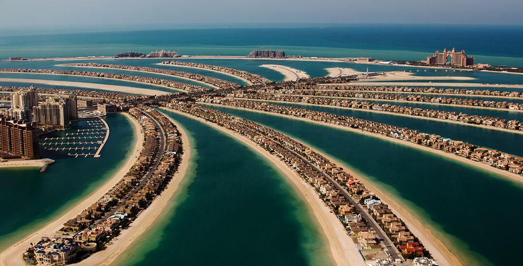 Auf der wunderschönen Insel The Palm in Dubai...
