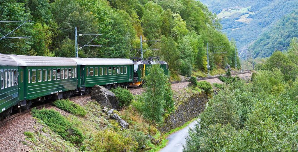 Highlights include a trip on the Flam mountain railway...