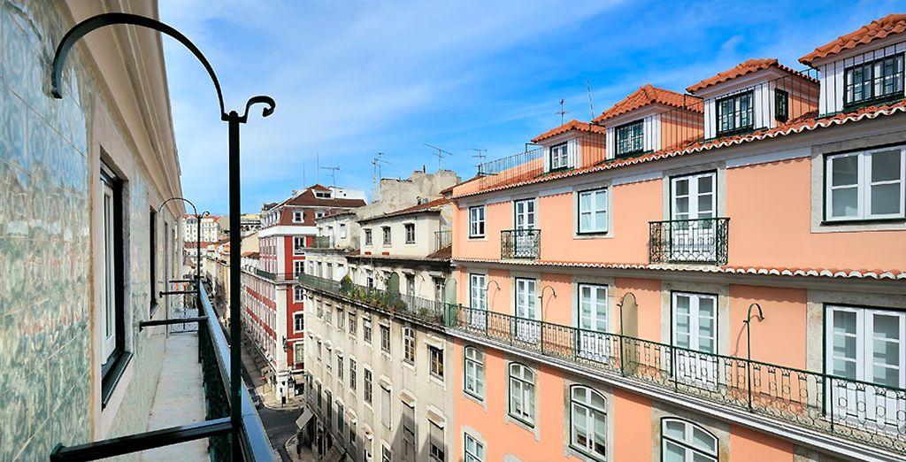 Ansichten aus dem Zimmer auf die Rua Sao Juliao