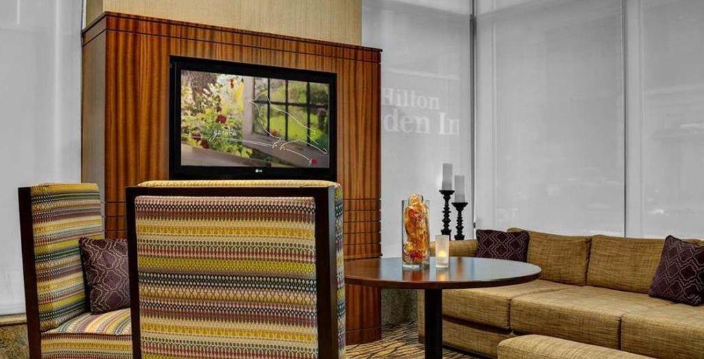 Das Hilton Garden Inn West 35th Street liegt mitten im Herzen von Manhattan