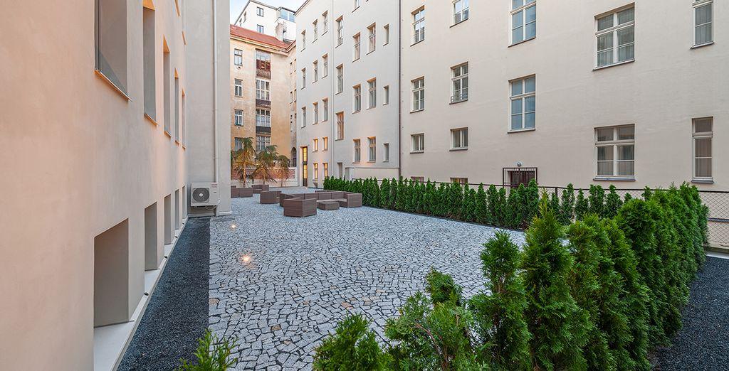 Spazieren Sie durch ruhige Viertel oder durch den neuen Teil Prags