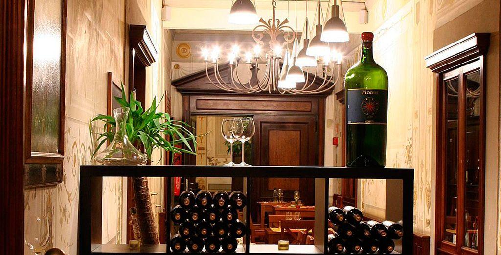 Das Restaurant serviert zahlreiche italienische Weine