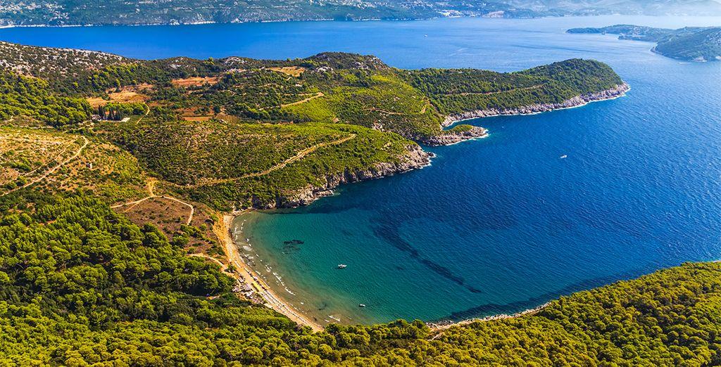 Nehmen Sie die Fähre, um die Insel Mljet in Kroatien zu entdecken