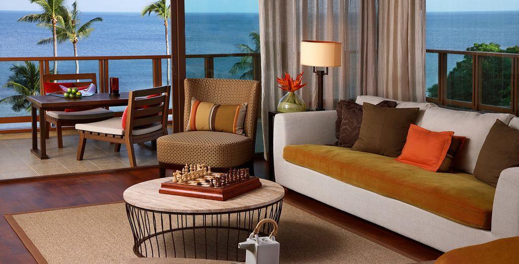 Die Suiten sind elegant und gemütlich eingerichtet