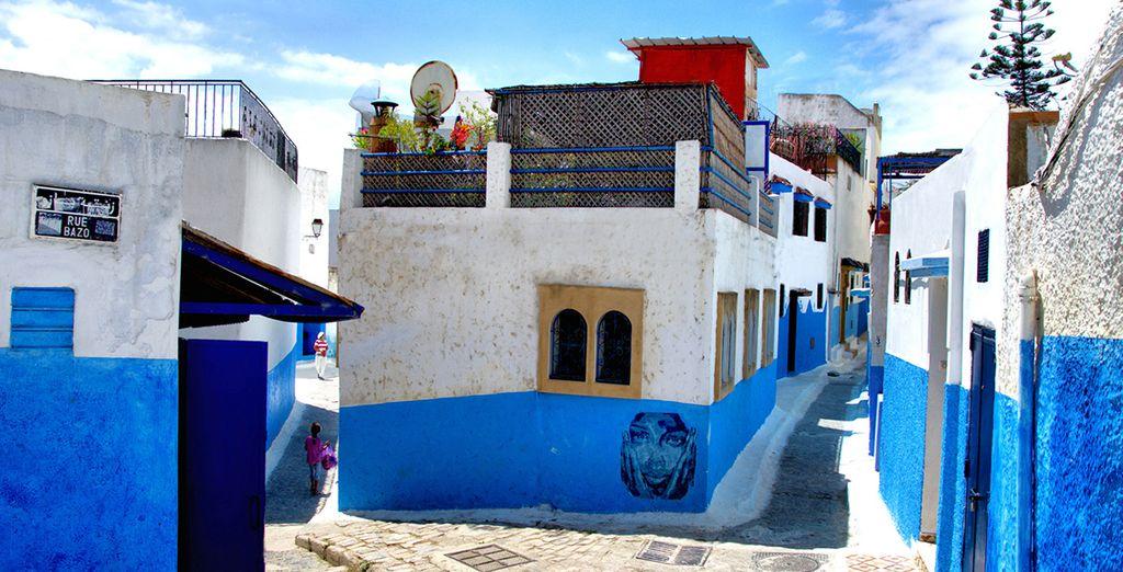 Die Medina von Marokko folgt dem Führer.