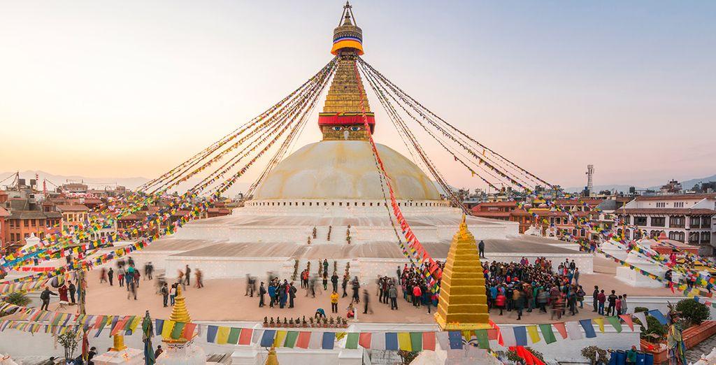 Besuch des Swayambhunath Tempels