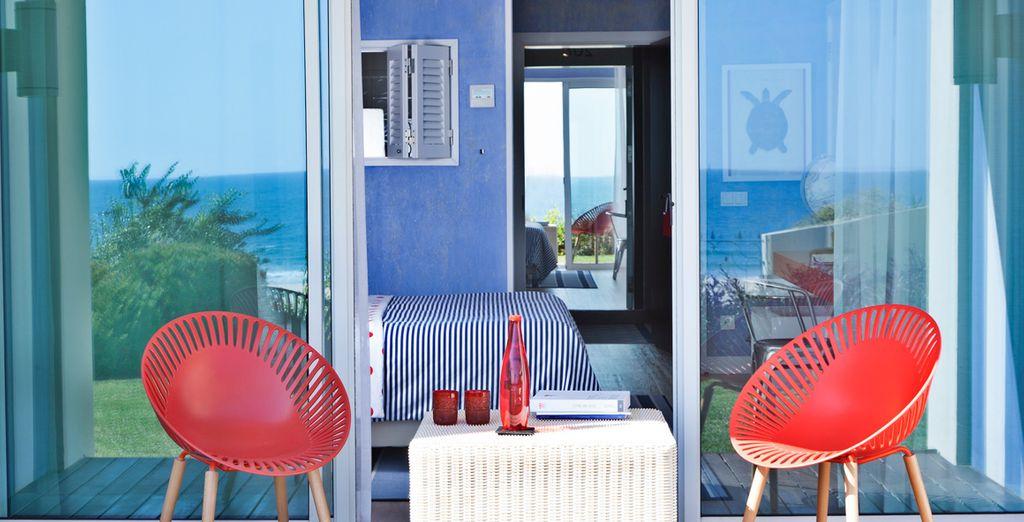 Profitieren Sie von den Sonnenstunden auf der Terrasse