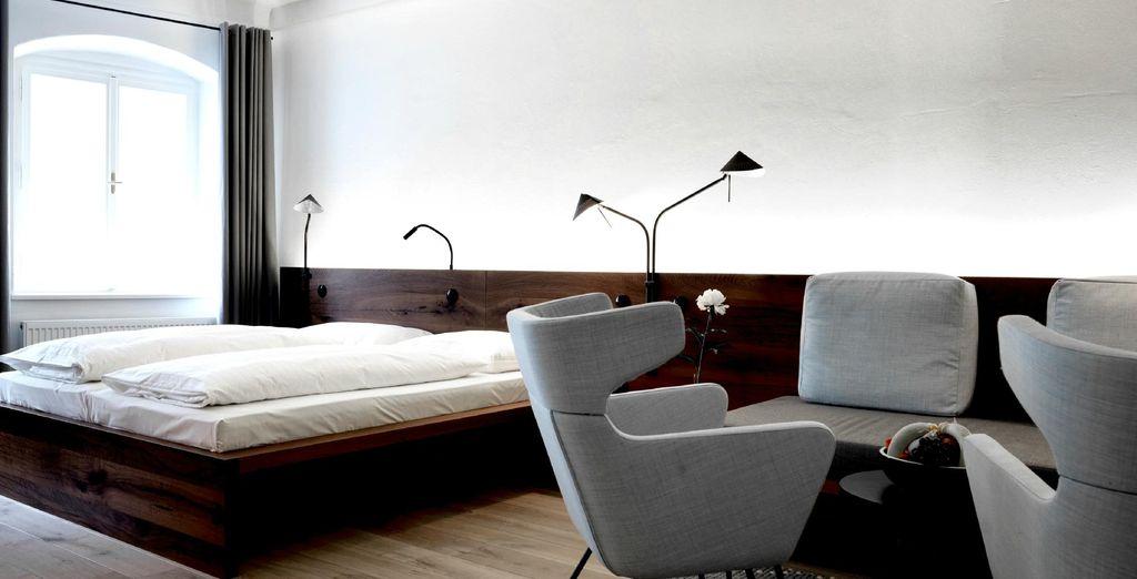 Y la Double Room ofrece 35m² de espacio