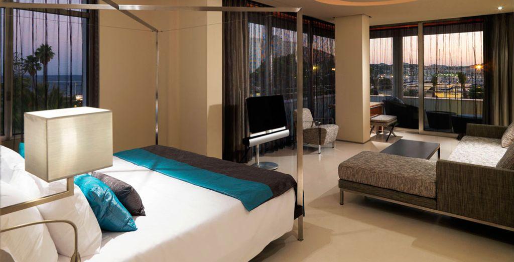 La Suites Corner presume de tener un estilo sofisticado y un cómodo interior