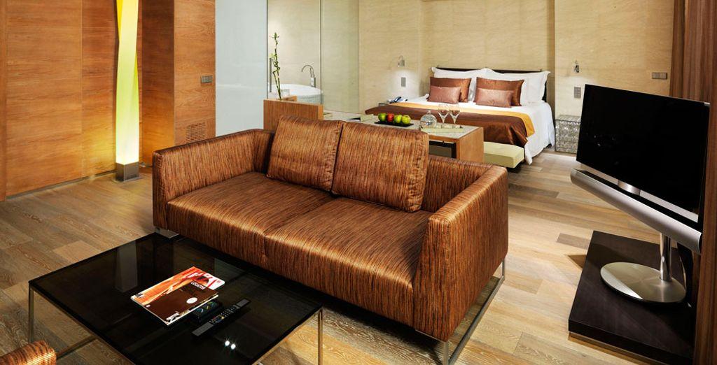 Su sala de estar te proporcionará momentos de lo más relajantes