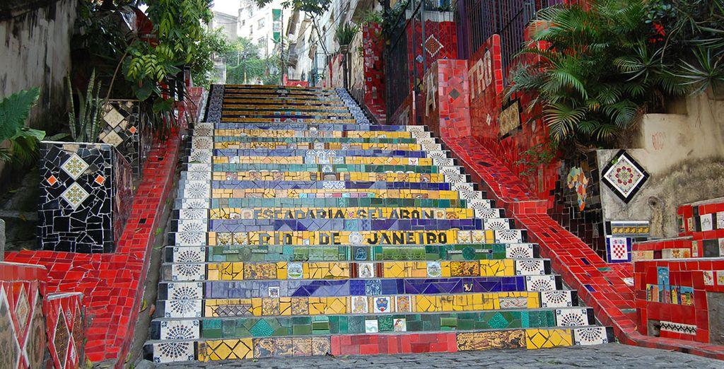 O la famosa escalera de Selarón