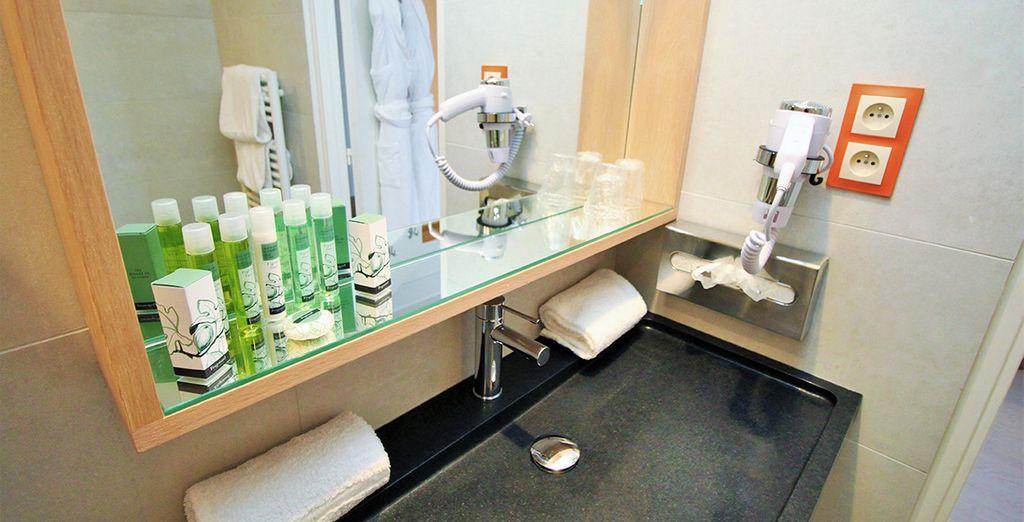 Y un baño perfectamente equipado