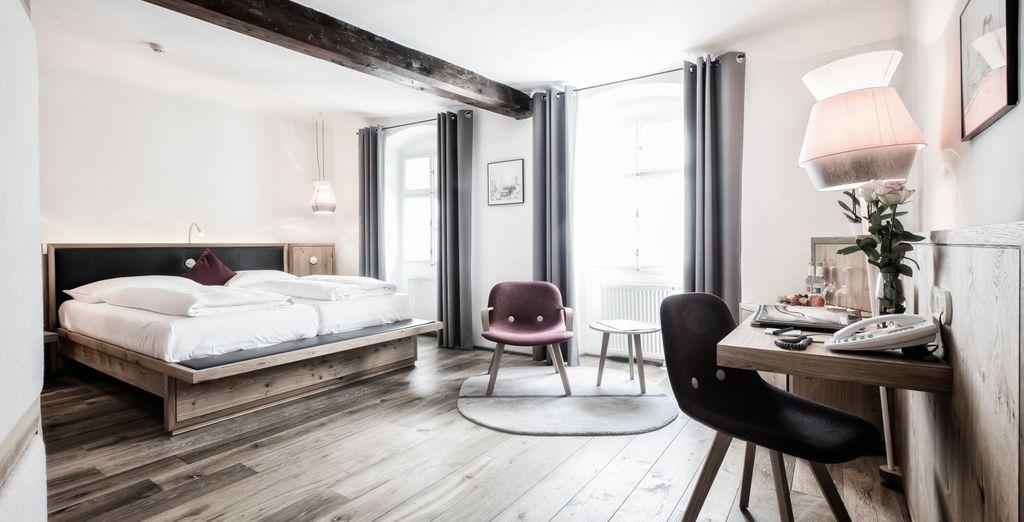 La Medium Double Room ofrece una elegante decoración