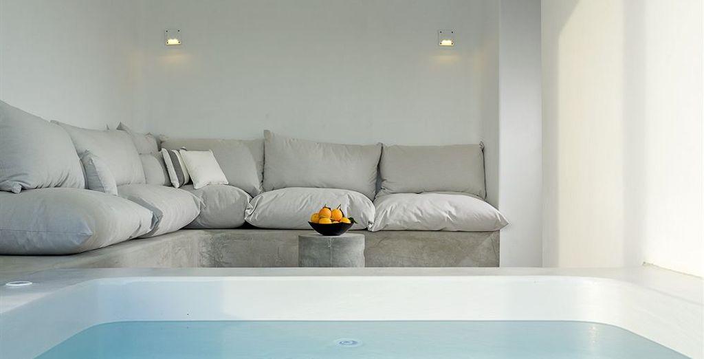 Para una estancia de lujo, elige una suite con jacuzzi privado