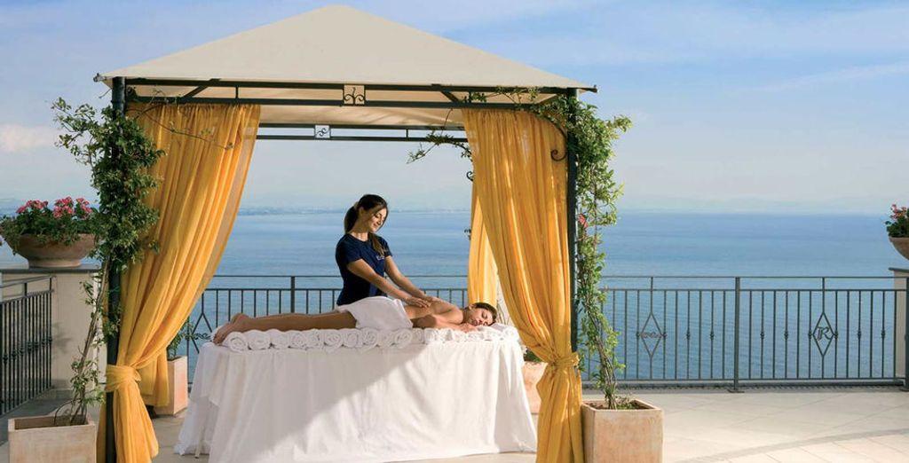 Y relájate con un reconfortante masaje